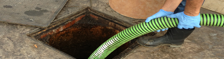 Grease removal service from traps and interceptors | Pumping grease out of traps and interceptors